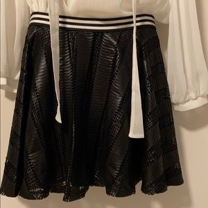 NWT bcbg black skirt
